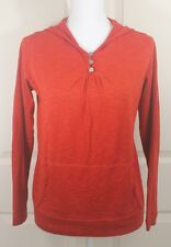 Women's Horny Toad Red Cotton Pullover Hoodie Shirt Activewear Sweater Size M