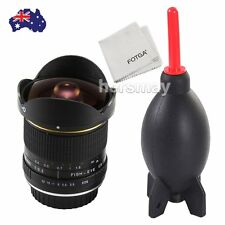 AU 8mm f/3.5 Super Wide Angle Fisheye Lens For Canon 750D 7D 5D IV  + Air Blower