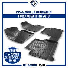 Design 3D Gummimatten Set für FORD KUGA III ab 2019   Extra hoher 5cm Rand