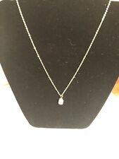 Fashion jewelry Yellow Gold Filled  CZ Pendant (square)Women long Chain Necklace