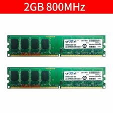 4GB 2x 2GB PC2-6400U DDR2 800MHz 240Pin 1.8V PC RAM Desktop Memory For Crucial