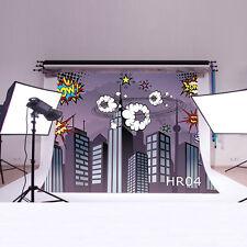 Superhero Vinyl Backdrop Studio CP Photography Prop Photo Background 5X3FT HR04
