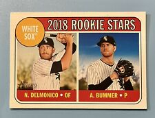 2018 Topps Heritage Nicky Delmonico Aaron Bummer #173 Chicago White Sox RC