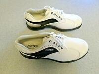 """NEW Footjoy """"GreenJoys"""" white and black leather golf shoes, Women's 6.5 M"""