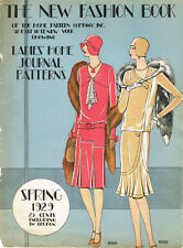 1920s Ladies Home Journal New Fashion Book Spring 1929 Pattern Catalog Ebook CD