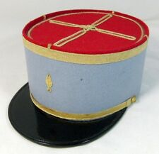 Genuine Vintage French Army Cavalry Officer Kepi Military Cap Hat Size 57cm