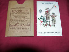Mint 1927 Boy Scouts of America Membership Card Boys Life Old Antique Dept Paper