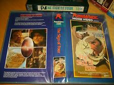 Vhs *THE SIGN OF FOUR* 1983 Pre Cert Australian Roadshow Rare 1st Issue Mystery!