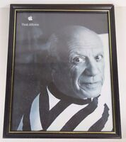 Vtg 1999 APPLE COMPUTERS THINK DIFFERENT PABLO PICASSO 11x14 ADVERTISING POSTER