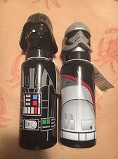 Star Wars Darth Vader/Captain Phasma Helmet-Shaped Zak! Aluminum Bottle Lot of 2