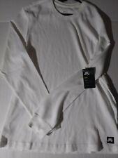 Men's Large Nike Skateboarding Long Sleeve Warm Shirt White Style BV7059 100