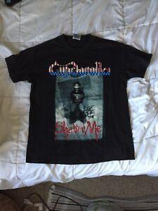 vtg 1990 CINDERELLA Shelter Me t shirt Size L metal tour Rare Vintage