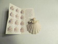 Seashell Ornament Angel Holding Dove Porcelain Collectible Margaret Furlong
