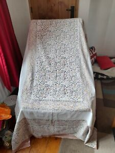 """2 Vintage 1960's / 70's Indian Woven Cotton Throw / Cover 84 x56 """" approx."""