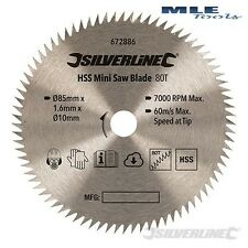 Silverline Mini Saw Blade 85mm Dia 10mm Bore - 80T Titan® and Worx® 672886