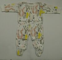 NEW Floral Pig Baby Girls One Piece Footed Sleeper Size 80 (6-12 Mo) Pajamas