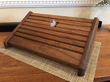 Challenge Coin Display Solid Walnut Stadium Style Military Coin Holder Rack