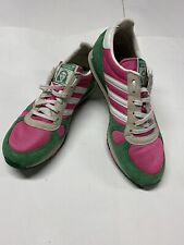 Vintage Grete Waitz Adidas Sneakers 3 Stripes Green And Pink Size 9.5 Number 289