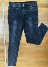 Mossimo- Women's High Waisted Denim GREY leggings - size 9 - very stretchy