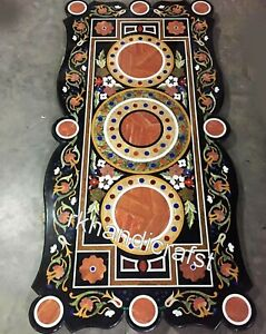 Marble Restaurant Table Top with Carnelian Stone Art Dining table 36 x 72 Inches
