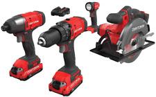 CRAFTSMAN Cordless Drill V20 Lithium Batterg, Combo Kit, 4 Tool (CMCK401D2) NEW*