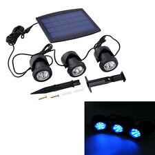 3x Solarstrahler Spot-Light Solarlampe Bodenstrahler mit 3 LED Solarleuchte !