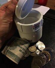 "HIDEAWAY Hide it in Plain Sight! 3"" PVC Tube Threaded Cap 🔴 Stash Your Cash! 💰"