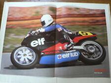 A437-RON HASLAM ELF HONDA NO 5 MOTO GP ENDURANCE POSTER 1986 ? ARAI,ELF LUB DUNL