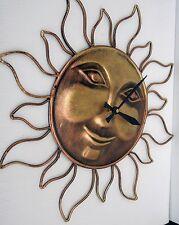 SUN CLOCK - 15 INCH BRONZE FINISH WALL CLOCK