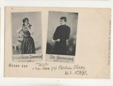 Teresina Gessner Sommerstorff Otto Sommerstorff Opera Gruss U/B Postcard 677b