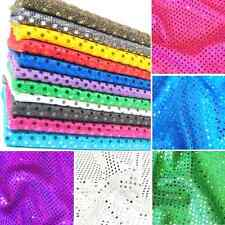 """Sequins Fabric 3mm & 6mm 44"""" 112cm Wide Material Shiny Sparkly Nylon Polyester"""