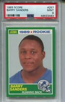 1989 Score Football #257 Barry Sanders Rookie Card RC Graded PSA MINT 9 Lions