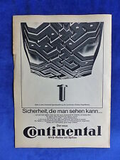 Continental M+S Reifen Spikes - Werbeanzeige Reklame Advertisement 1964 __ (601