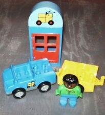 Lego Duplo Häuschen Auto Figur Anhänge Post Motivstein  Ville Eisenbahn aus 3325
