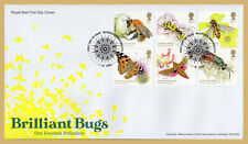2020 BRILLIANT BUGS STAMP SET FDC FIRST DAY COVER - Bugford Handstamp