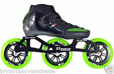 Luigino Strut Black Inline Speed Skate Boot Size 4-15 5 US / 37 EU