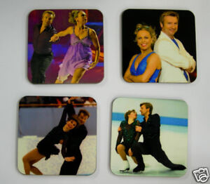 Torvill and Dean Ice Skating Olympic Drinks Coaster Set