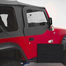 Door Skins Pair Black Denim Jeep Wrangler TJ 97-06 13717.15 Rugged Ridge