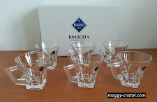 tasse a café en cristal de boheme (cristalin) lot de 6 tasses verre a thé promo