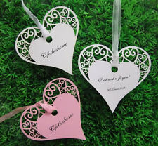 50pcs Wishing Tree Tags for Wedding place name cards/gift card with ribbon
