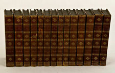 1783, Oeuvres LE SAGE, gil blas, 14 vols, 28 ENGRAVED plates, bindings, RARE!