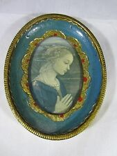Rare to find art 1940's F. Lippi framed minature Madonna print