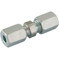 Hydraulic Compression Equal Tube Connector 8mm Pk3