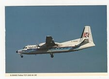 Air UK Fokker F27-200 Aviation Postcard, A997
