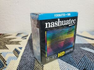 """Nashuatec HD Double-Sided 3.5"""" Diskette Floppy Drive 1.44MB for Data - 10 disks"""