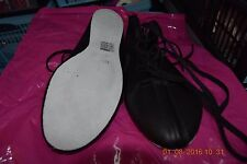 Black Freed suede sole ghillies/ irish dancing soft shoes -size UK 8