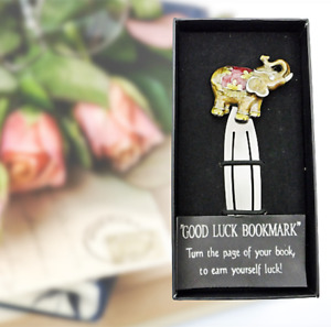 Elephant Book Mark Letter Opener Enamel Metal by Shudhill Red Gift Collectible