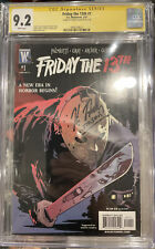 CGC 9.2 Friday the 13th SIGNED KANE HODDER #1 First issue Signature Series