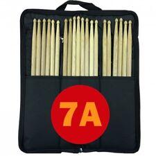 10 Pair 7A Drum Sticks Stagg Bag Nylon Black Beater Mallet Brush Drumstick Case