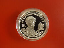 * China 10 Yuan 1998 Silber PP (1 Oz. 999) *Norman Bethune (Schub103)